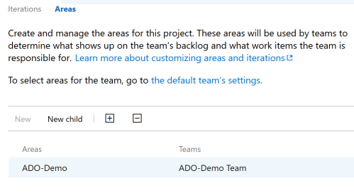 VSTS-Project-Areas