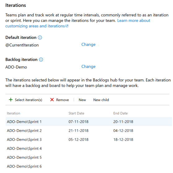 VSTS-Team-Iterations